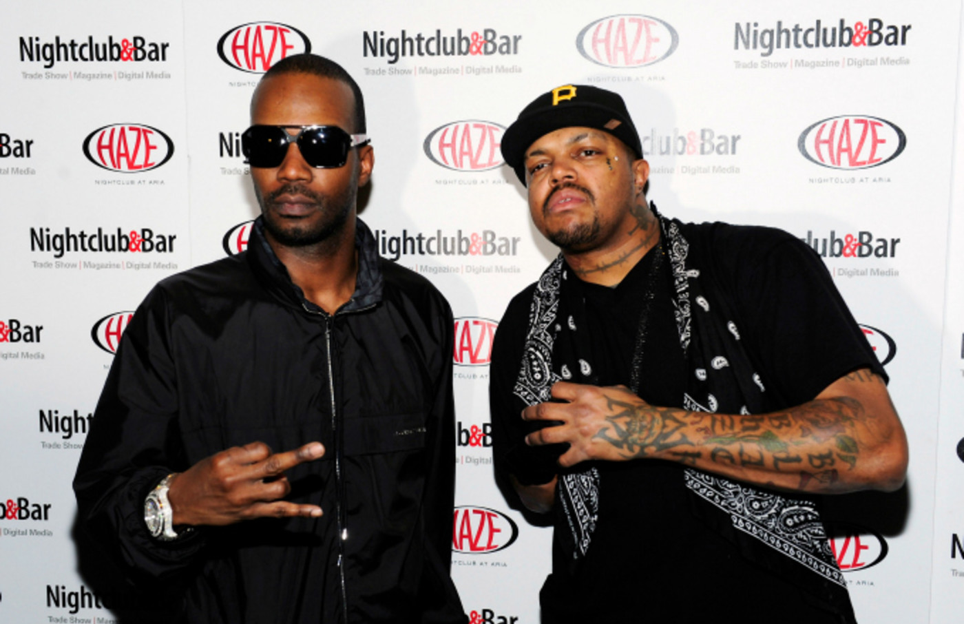 Recording artists Juicy J and DJ Paul