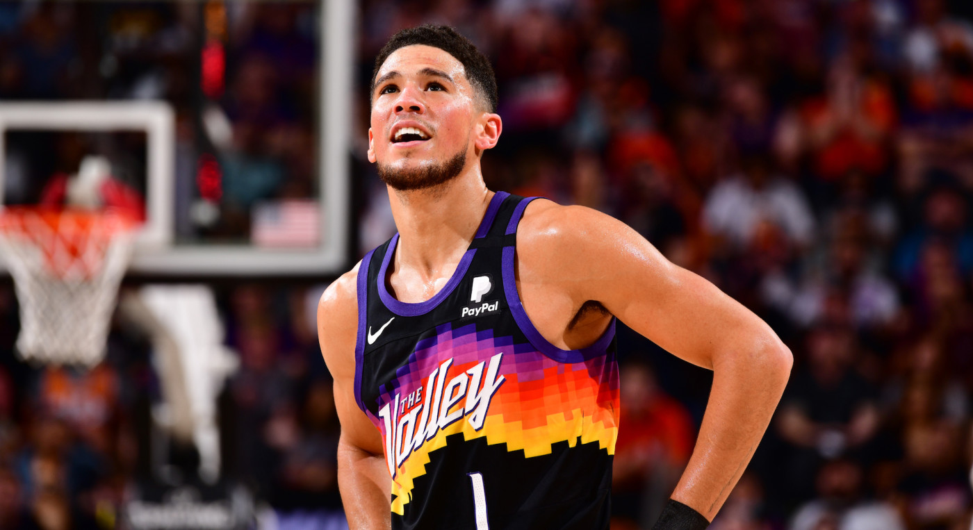 Devin Booker Wants To Track Down Viral 'Suns in 4' Fan: 'Need Mans Info'