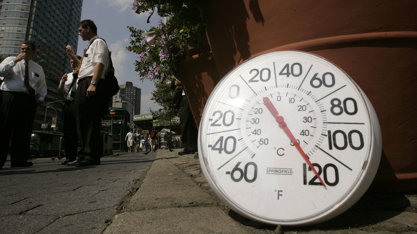 Hot day in New York City.