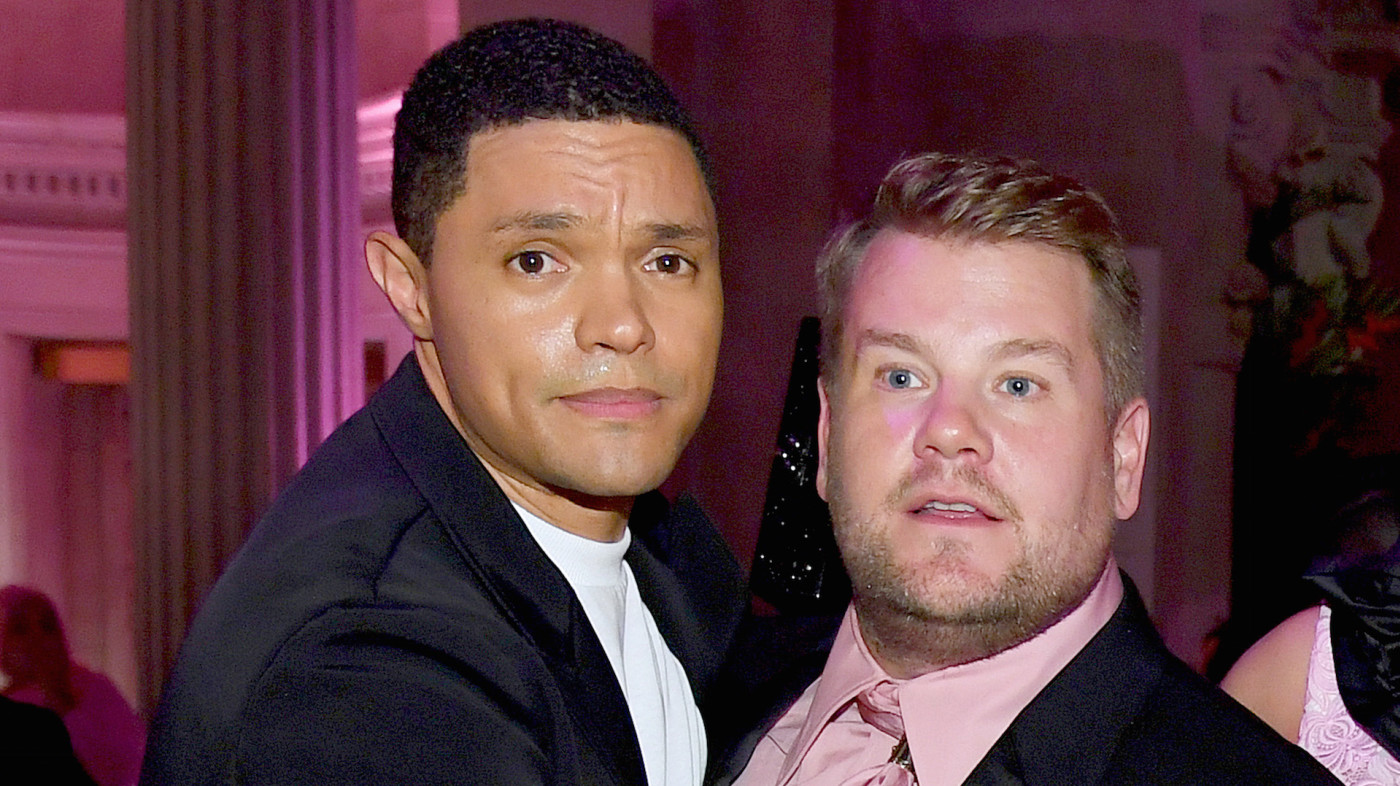 Trevor Noah and James Corden