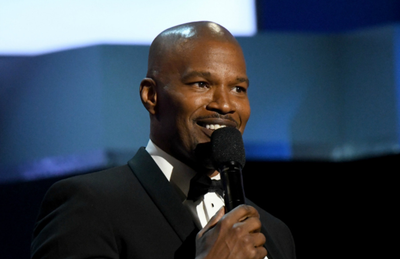 Jamie Foxx speaks onstage at the 47th AFI Life Achievement Award