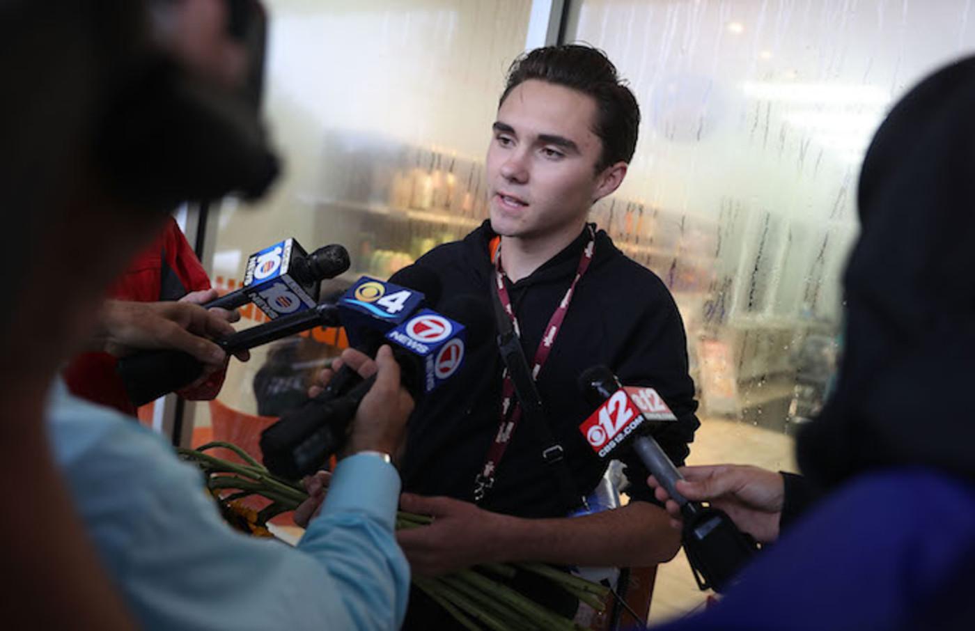 David Hogg, a survivor of the Marjory Stoneman Douglas High School mass shooting.
