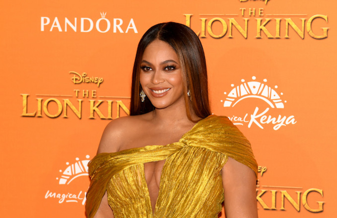 "Beyonce Knowles-Carter attends the European Premiere of Disney's ""The Lion King""."