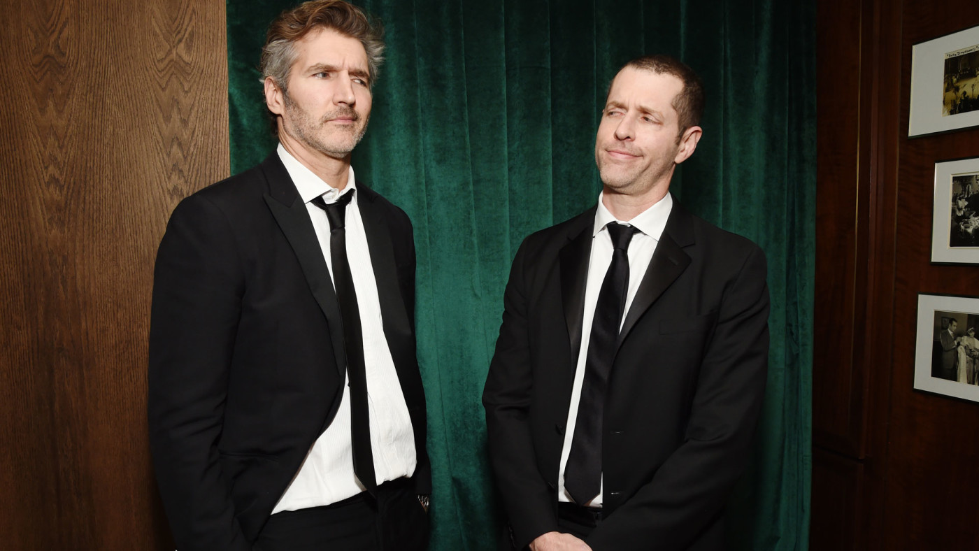 David Benioff and D.B. Weiss attend 2020 Netflix SAG After Party.