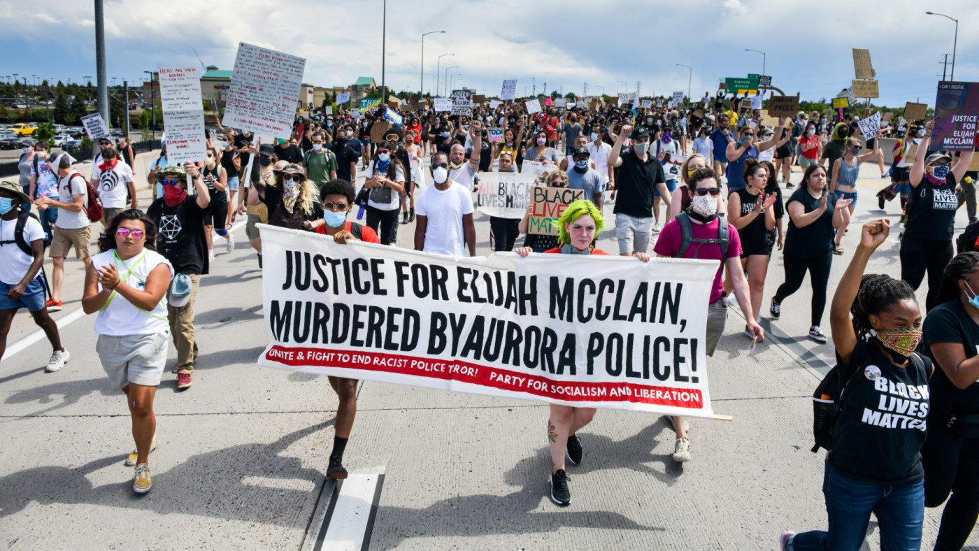 People shut down I-225 in both directions as they demand justice for Elijah McClain.