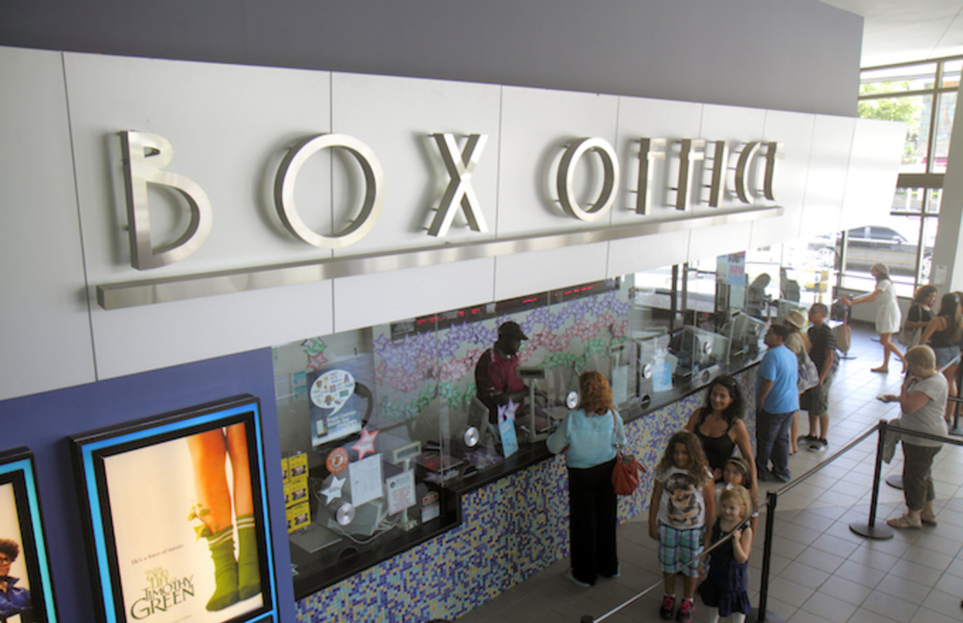 A box office at a movie theater.