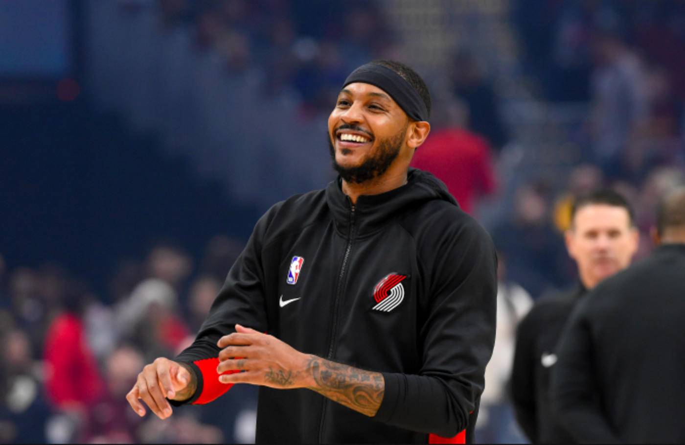 Carmelo Anthony #00 of the Portland Trail Blazers