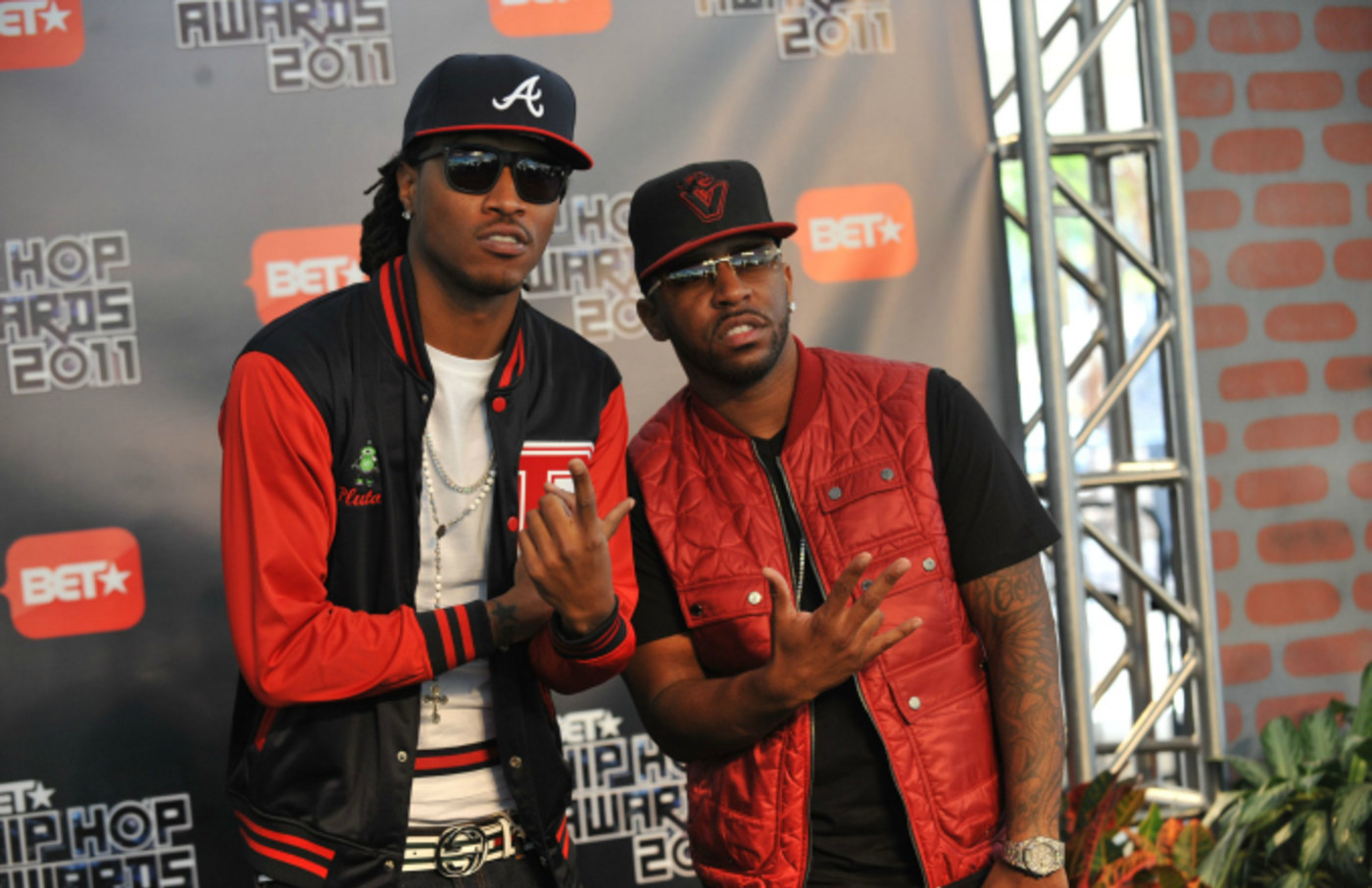 Rap artist Future and Rocco attends the BET Hip Hop Awards 2011