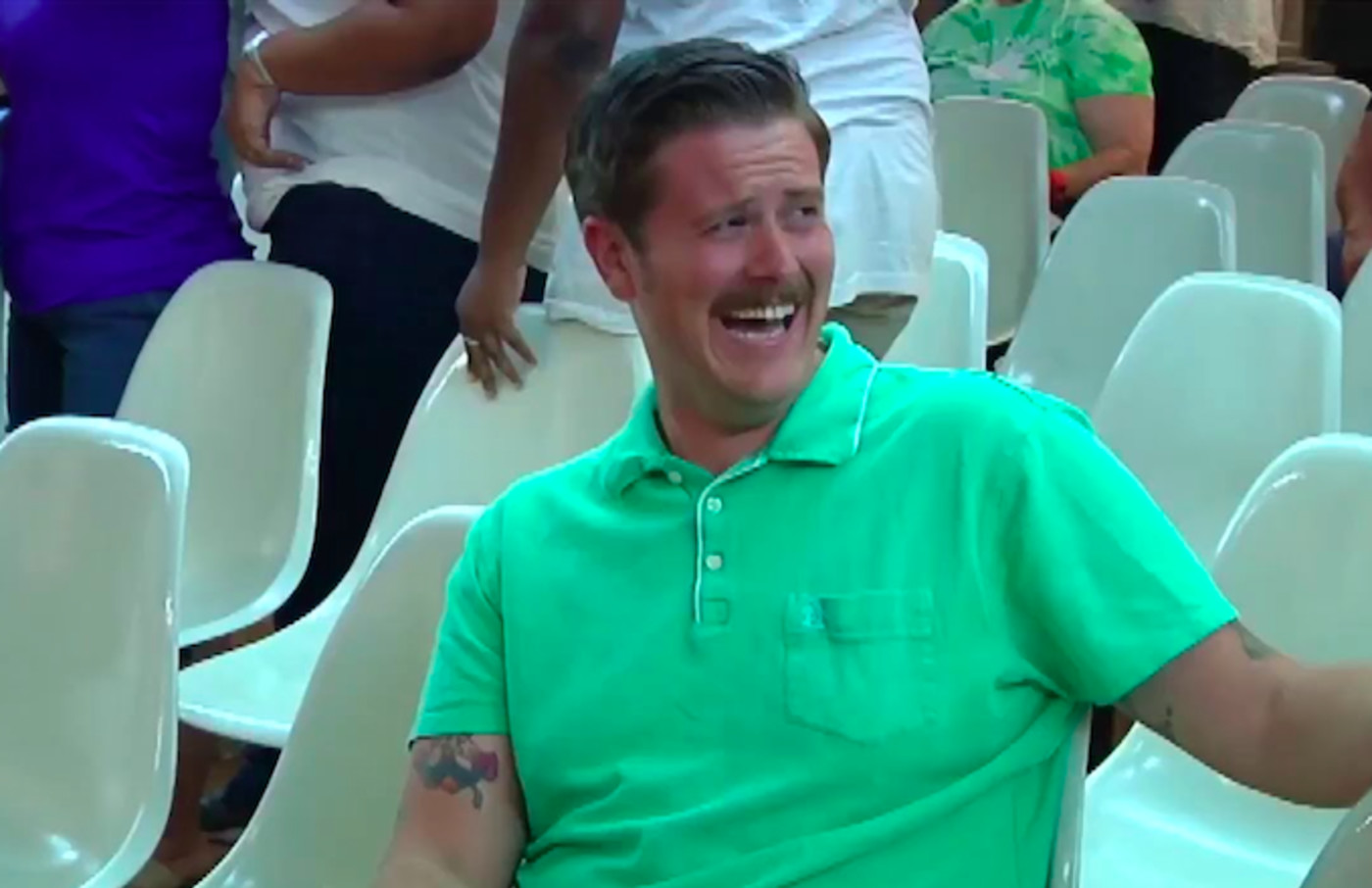 GreenShirtGuy Becomes Internet Legend After Laughing Uncontrollably at  Trump Supporters  Complex