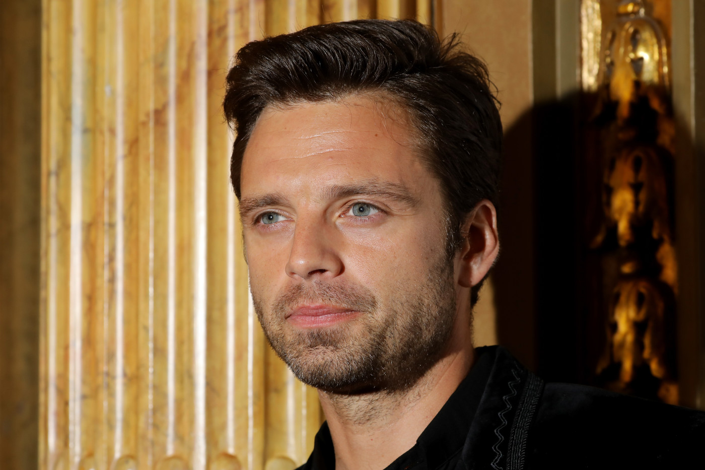 Sebastian Stan attends the 'Destroyer' premiere during 2018 Toronto International Film Festival