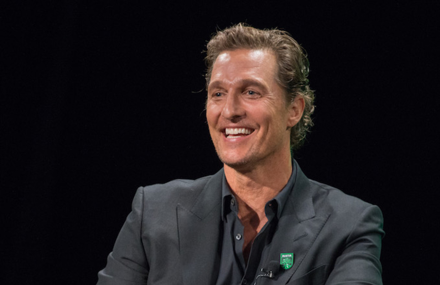 Matthew McConaughey attends the Austin FC Major League Soccer club announcement.