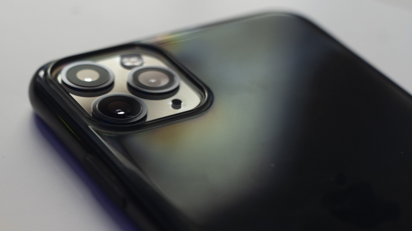 The camera module of an iPhone 11 Pro Max