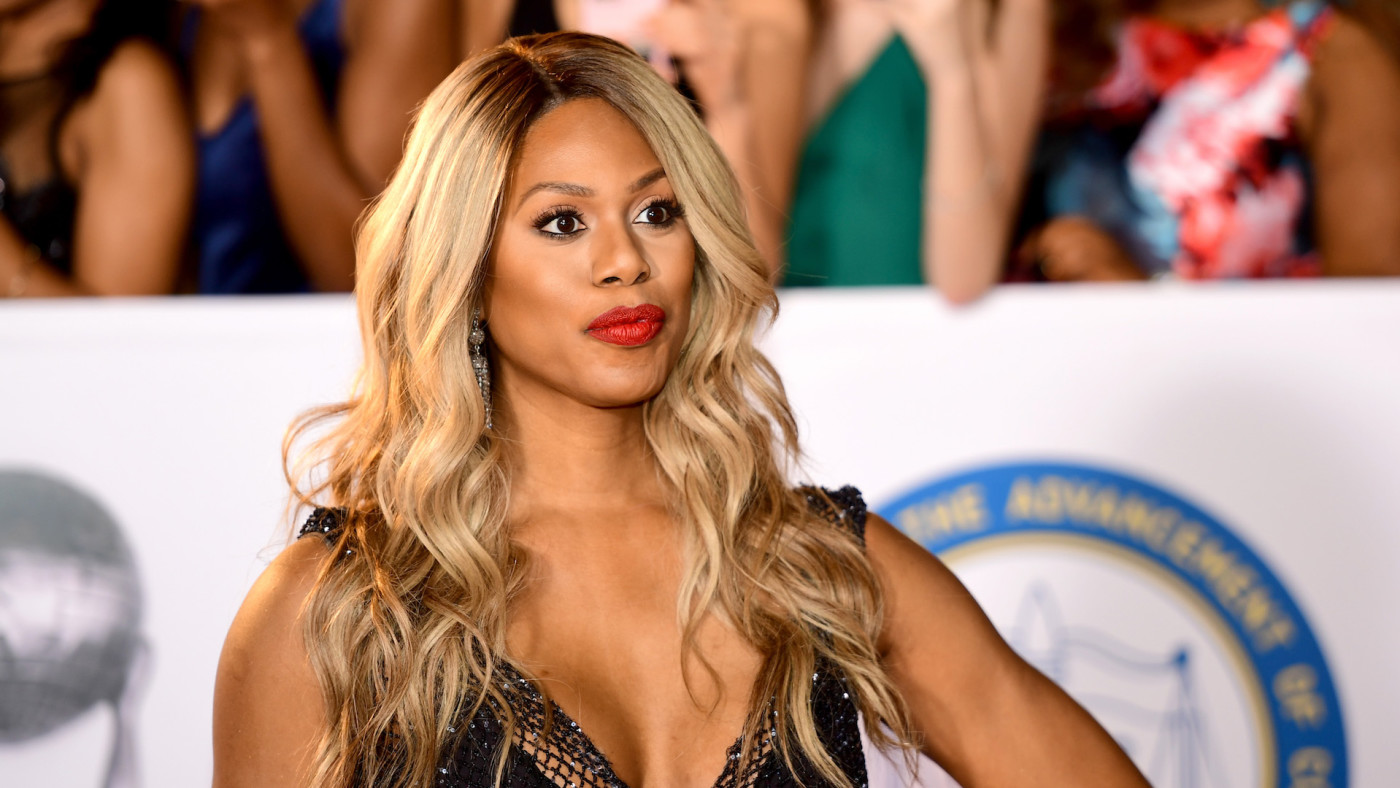 Laverne Cox attends the 49th NAACP Image Awards.