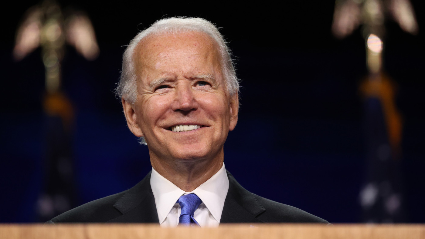 Joe Biden delivers his acceptance speech at Democratic National Convention.