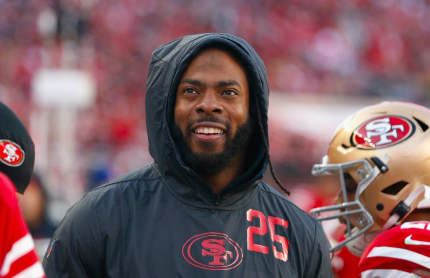 Richard Sherman #25 of the San Francisco 49ers