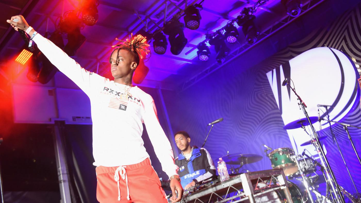 Jaydayoungan performs onstage during Pandora SXSW 2018