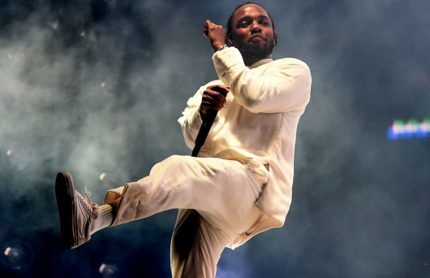 Kendrick Lamar performs at Coachella.