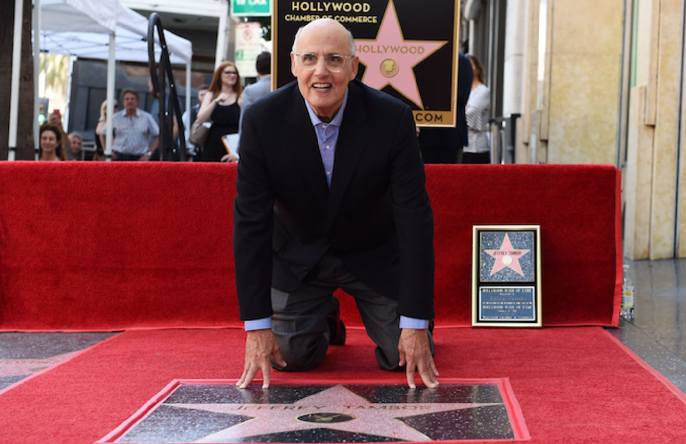 Jeffrey Tambor with his star on the Hollywood Walk of Fame.