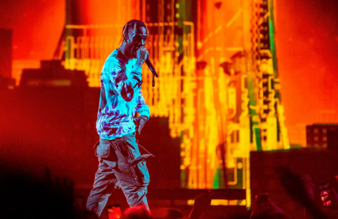 Rapper Travis Scott performs during his Astroworld Tour