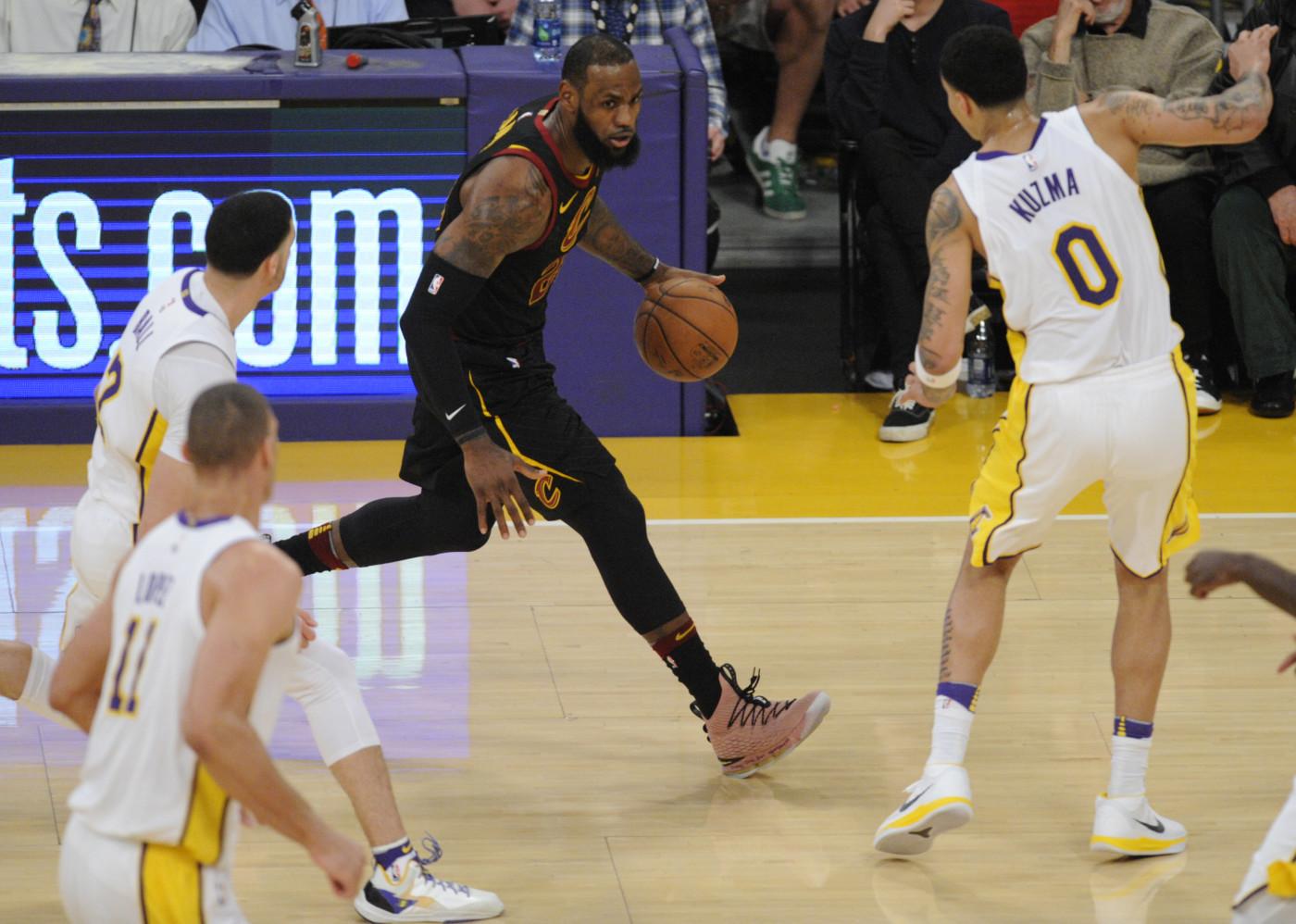 LeBron James Kyle Kuzma Lonzo Ball 2018