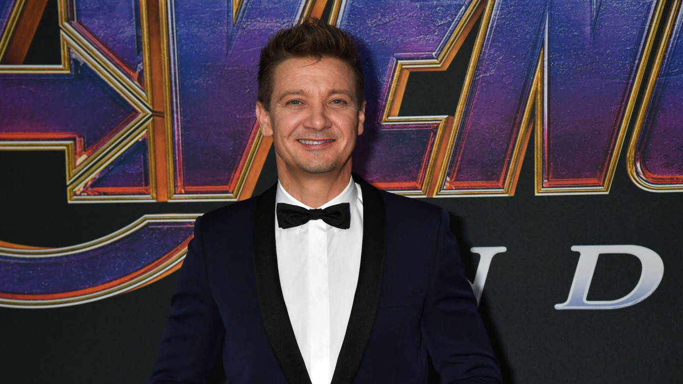 """Jeremy Renner attends World Premiere of """"Avengers: Endgame"""" at Los Angeles Convention Center."""