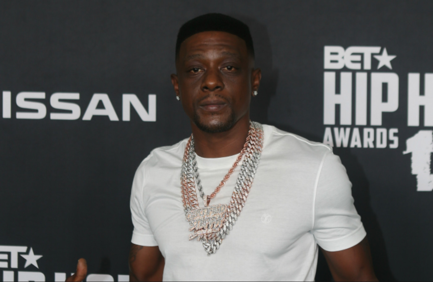 lil Boosie arrives to the 2019 BET Hip Hop Awards