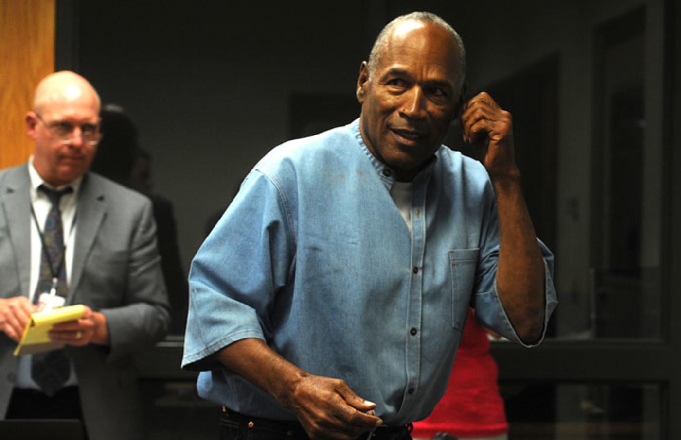 O.J. Simpson during his parole hearing.