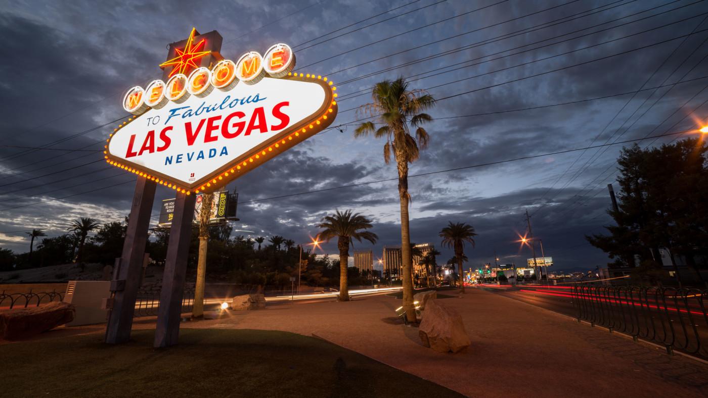 The iconic Vegas strip.