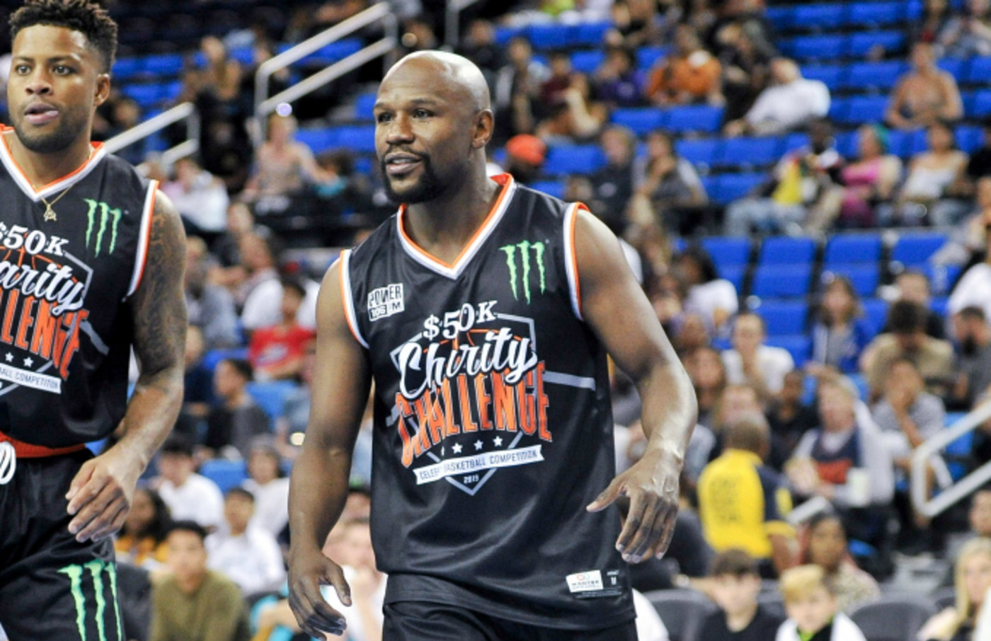Floyd Mayweather Jr. participates in the Monster Energy $50K Charity Challenge