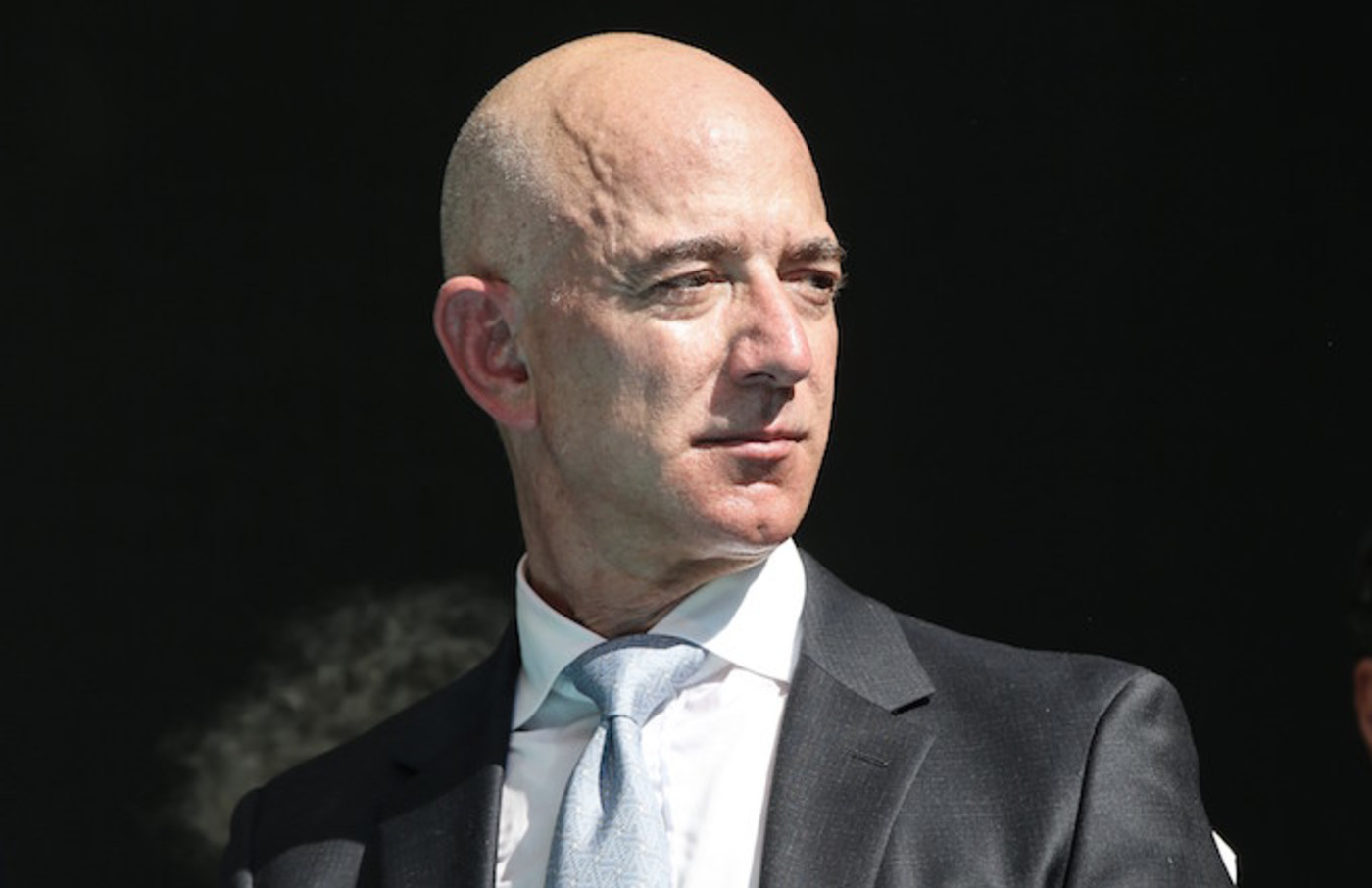 Amazon CEO Jeff Bezos attends commemoration ceremony held in front of Saudi consulate.