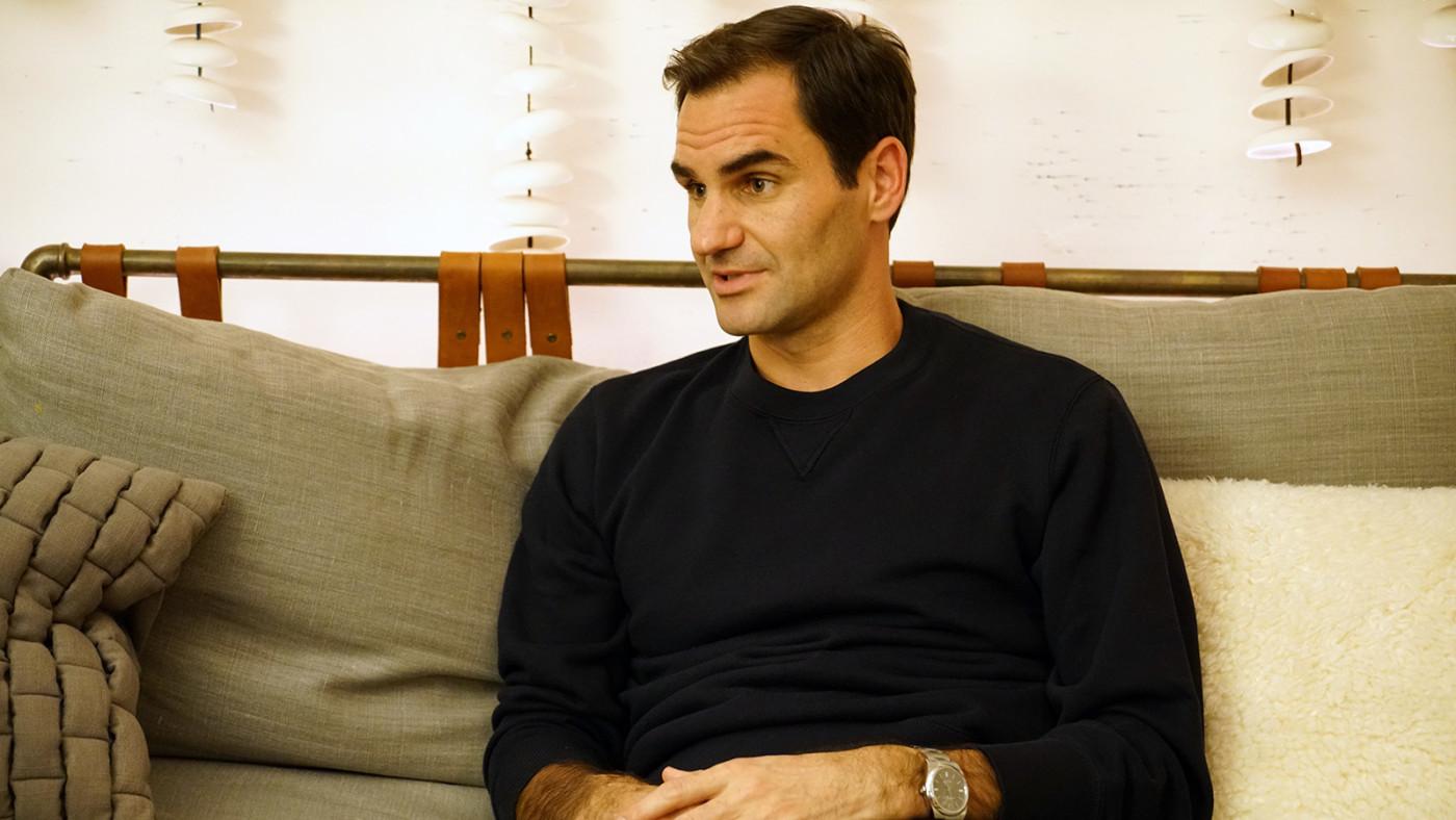 Roger Federer On Sneakers