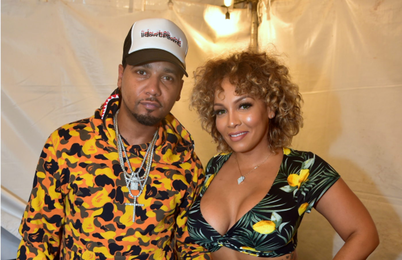 Juelz Santana and Kimbella attend 2018 A3C Festival