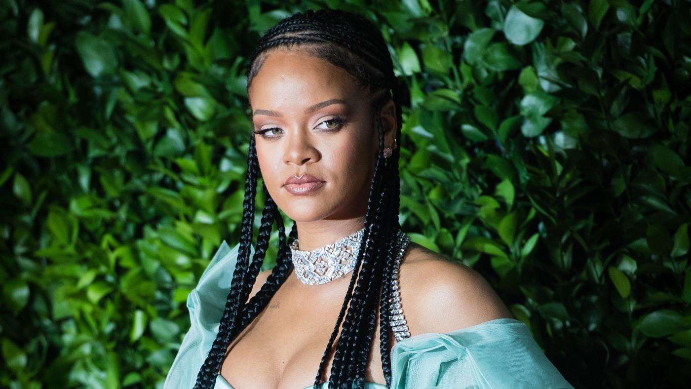 Rihanna arrives at The Fashion Awards 2019.