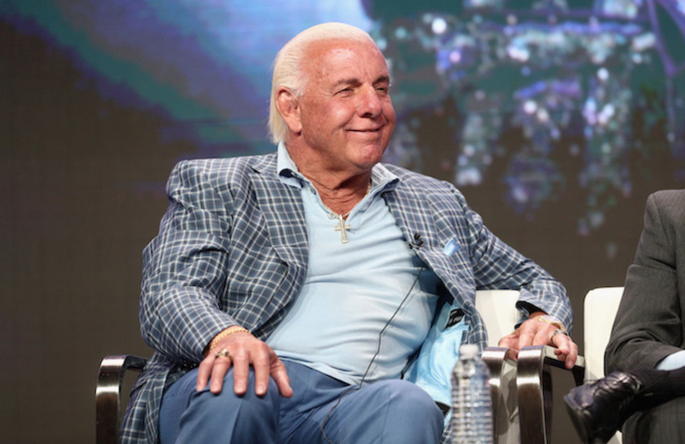 "Professional wrestler Ric Flair of 'ESPN's 30 for 30: ""Nature Boy"".'"