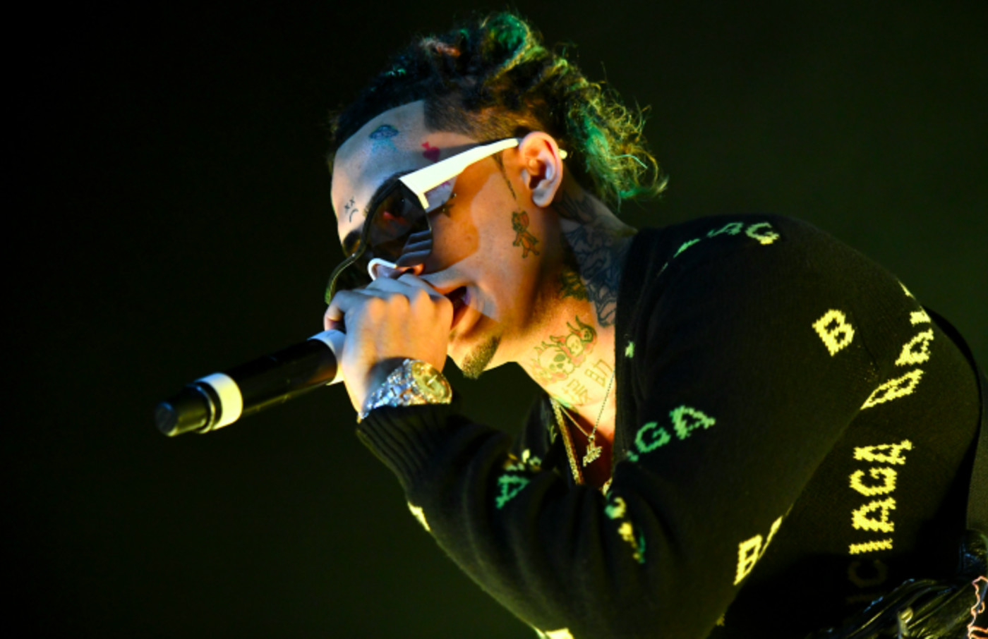 Rapper Lil Pump performs onstage during day 1 of the Rolling Loud Festival