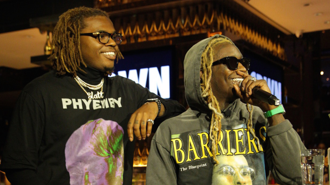 Gunna and Young Thug Attend 40/40 Club #CRWN A Conversation With Elliott Wilson
