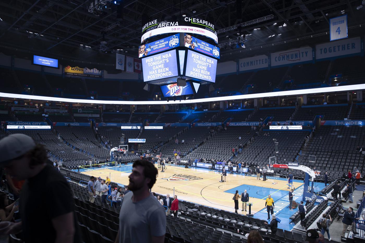 Oklahoma City Jazz Emptying Arena March 2020