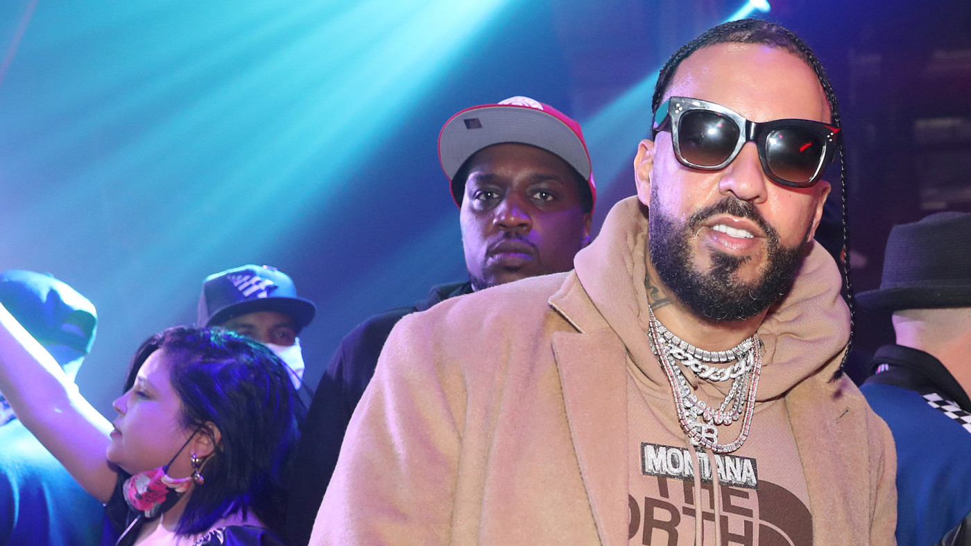 French Montana (L) and Funkmaster Flex attend The Big Game Bash