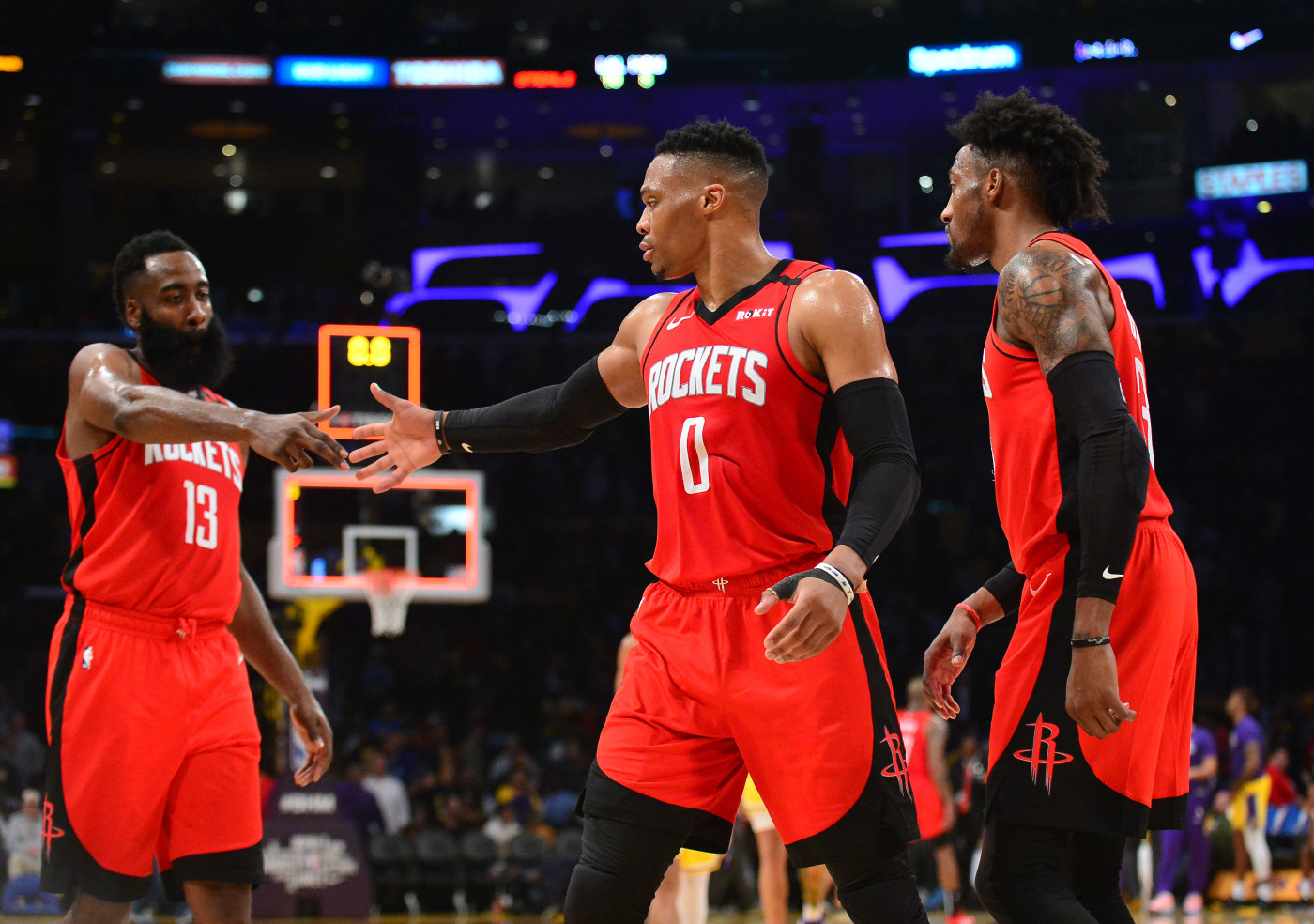 Harden Westbrook Covington Rockets Lakers Feb 2020
