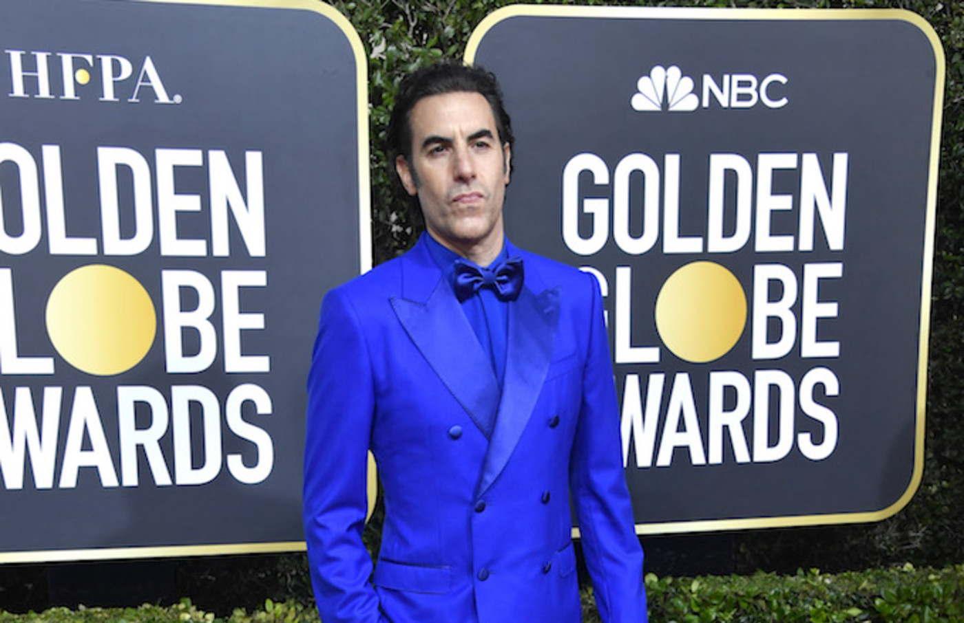 Sacha Baron Cohen attends the 77th Annual Golden Globe Awards.
