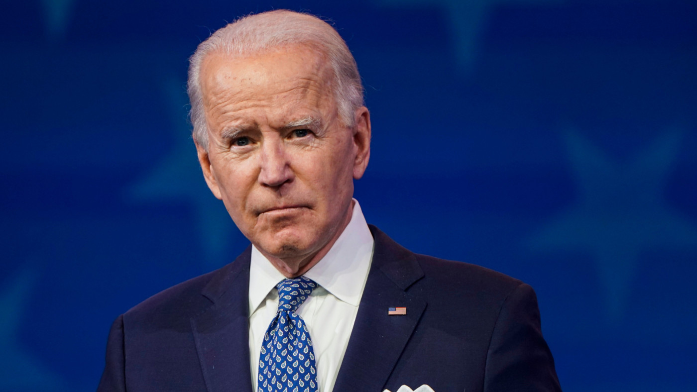 Joe Biden speaks prior to the holiday at the Queen theatre.