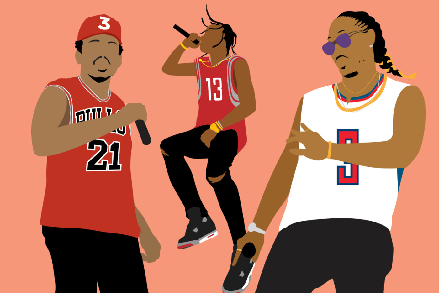 Lead Rappers Ballers Chance Travis Future