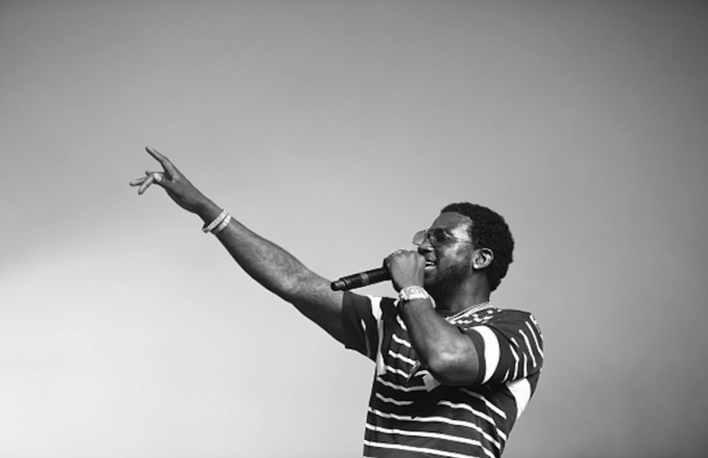 Gucci Mane performs at the Sahara Tent during day 2