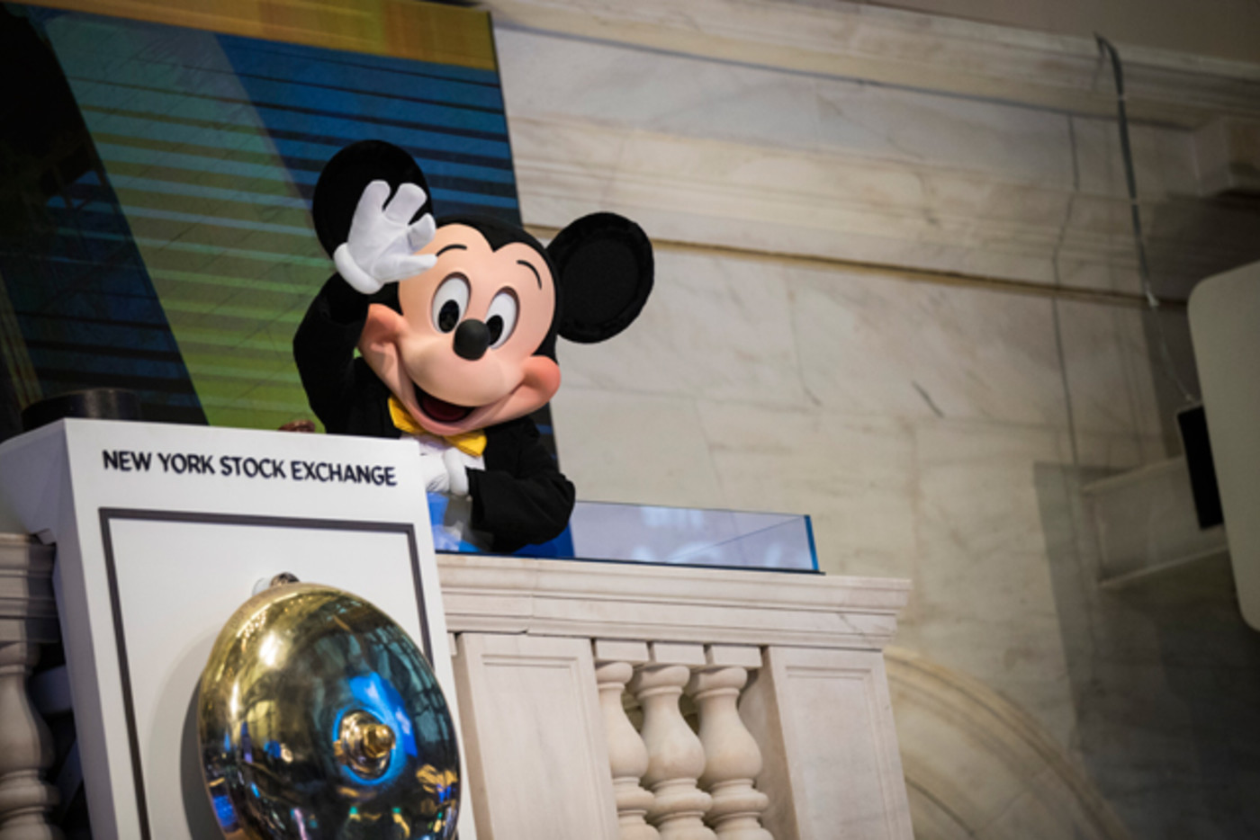 Mickey Mouse at the New York Stock Exchange