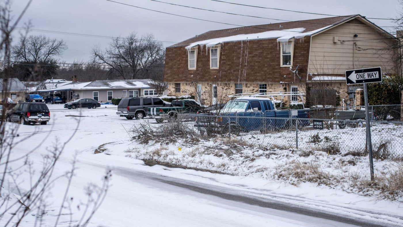 Snow in Waco, Texas