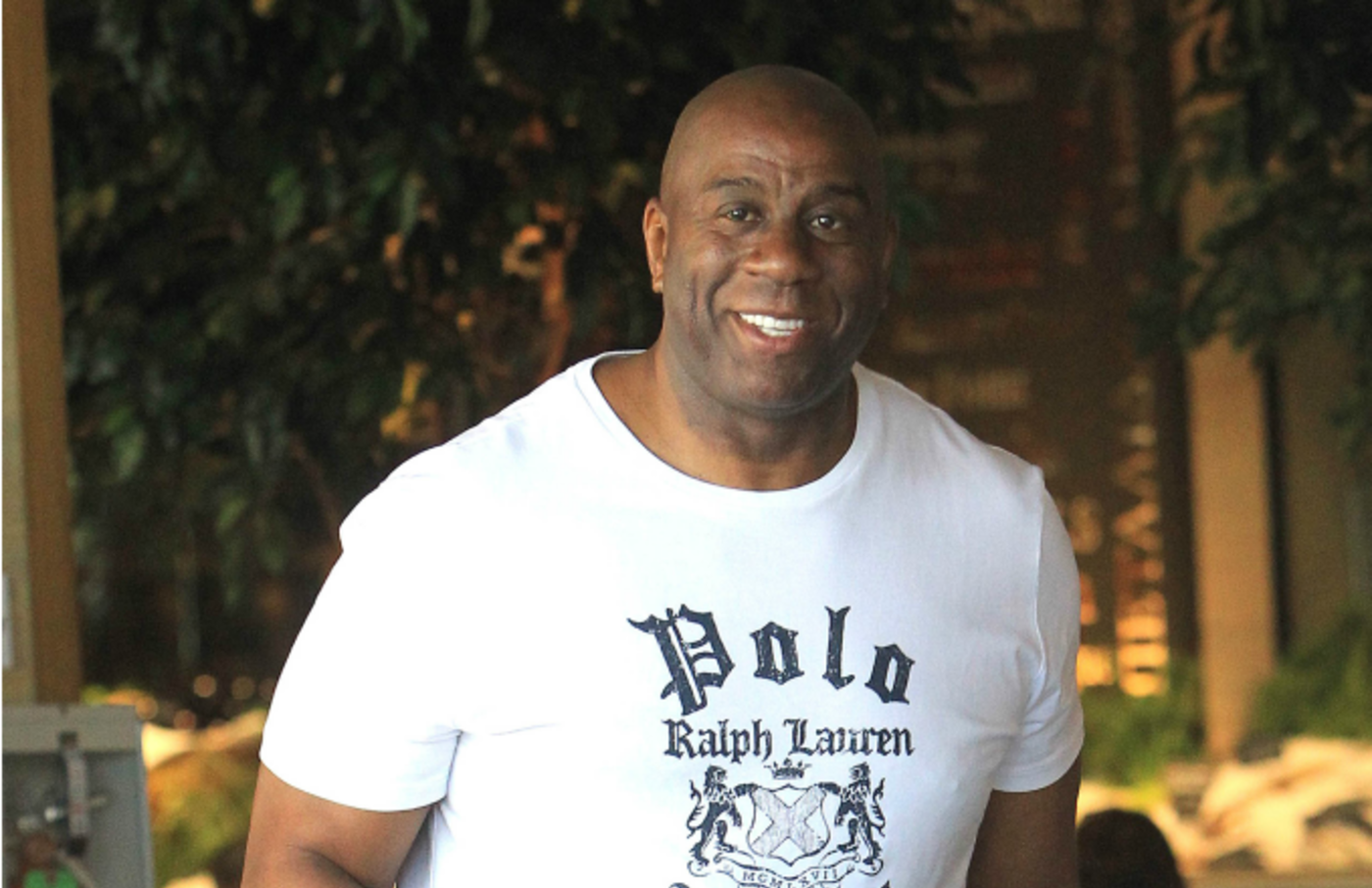 Magic Johnson is seen on April 26, 2019 in Los Angeles, California.