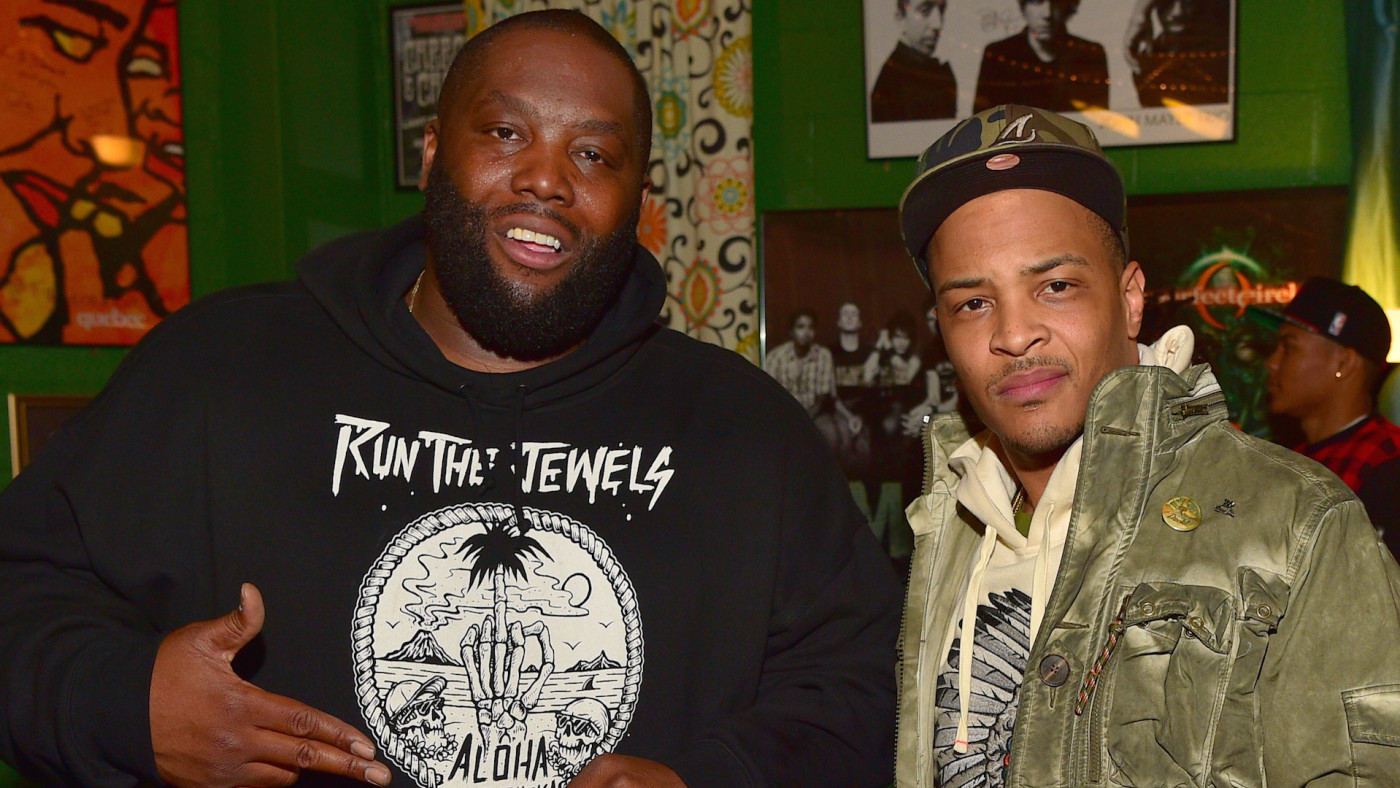 Killer Mike, T.I. backstage at The Tabernacle