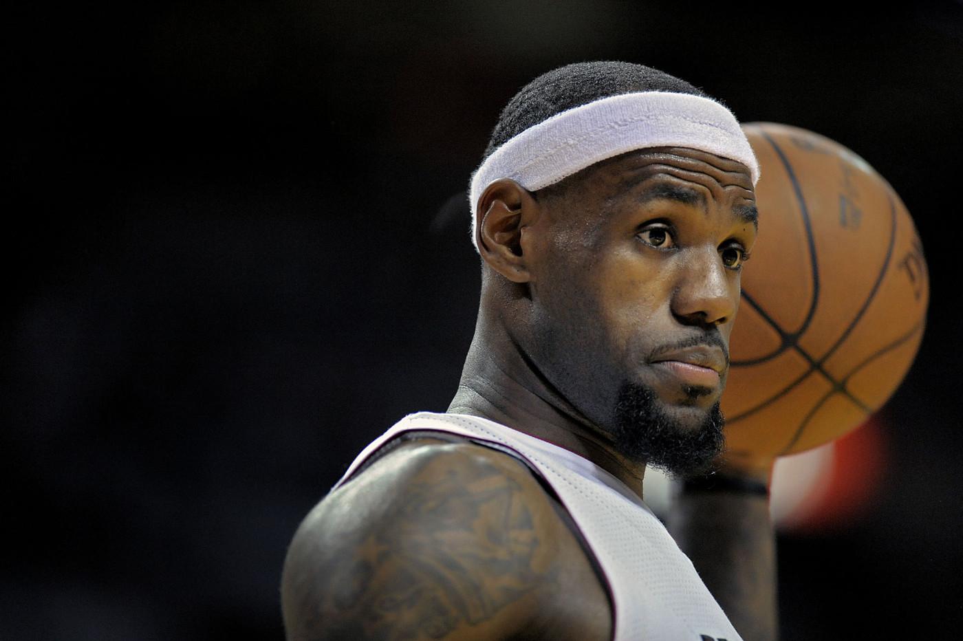 LeBron James Miami Heat 2012 Getty