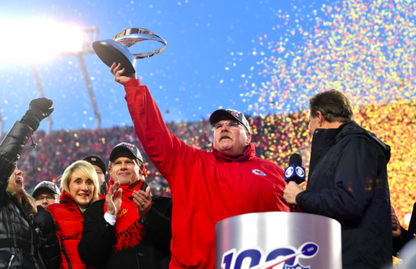 Head coach Andy Reid of the Kansas City Chiefs