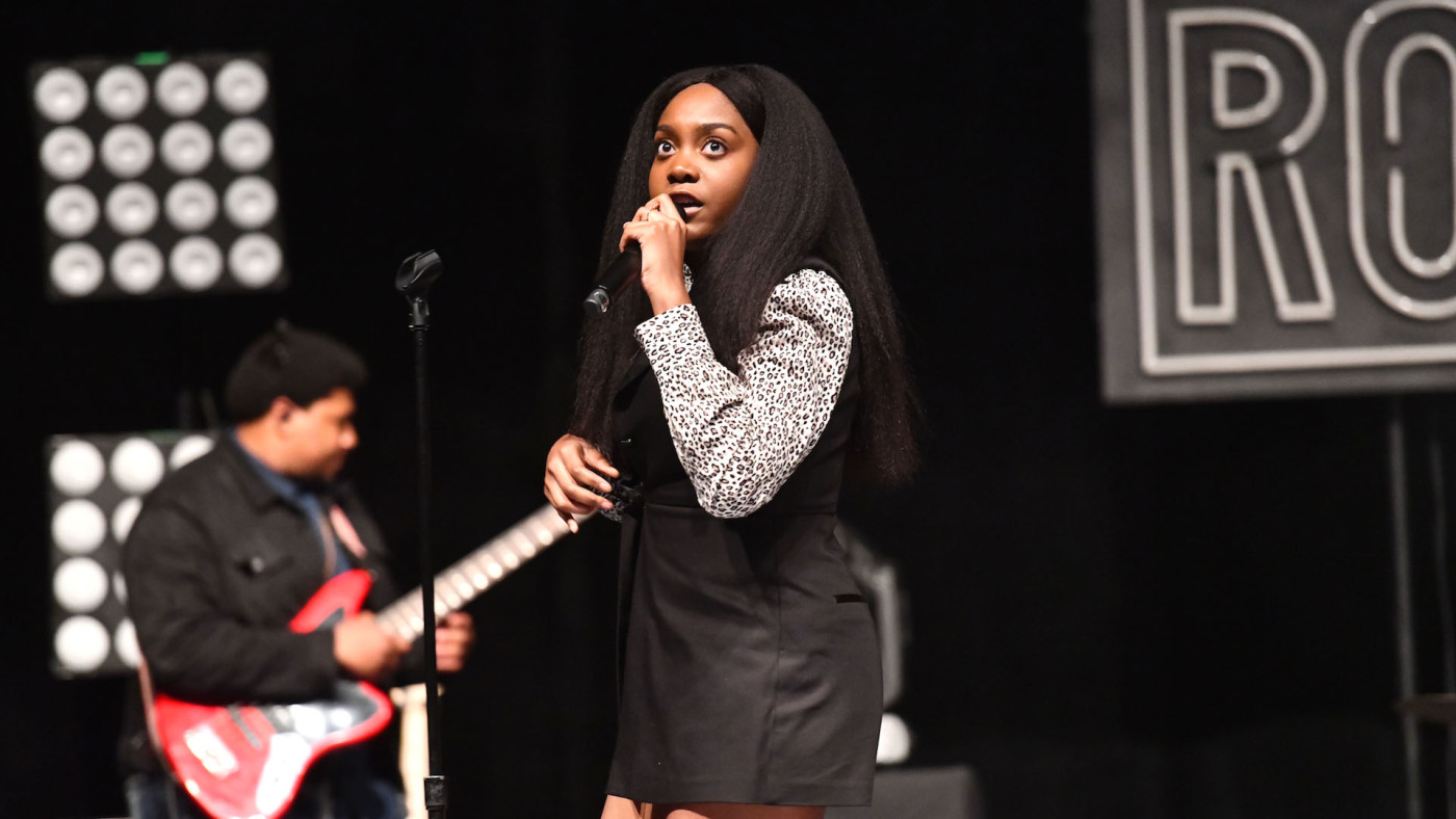 Singer Noname performs onstage during the 'Room 25' tour